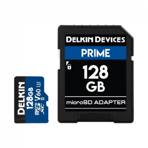 Delkin Devices 128GB Prime UHS-II microSD Memory Card 1900X V60