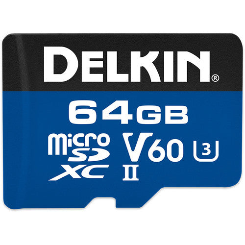 Delkin Devices 64GB Prime UHS-II microSD Memory Card 1900X V60
