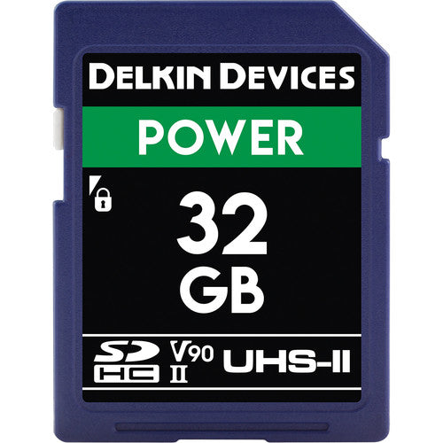 Delkin Devices 32GB Power UHS-II SDHC Memory Card 2000X V90
