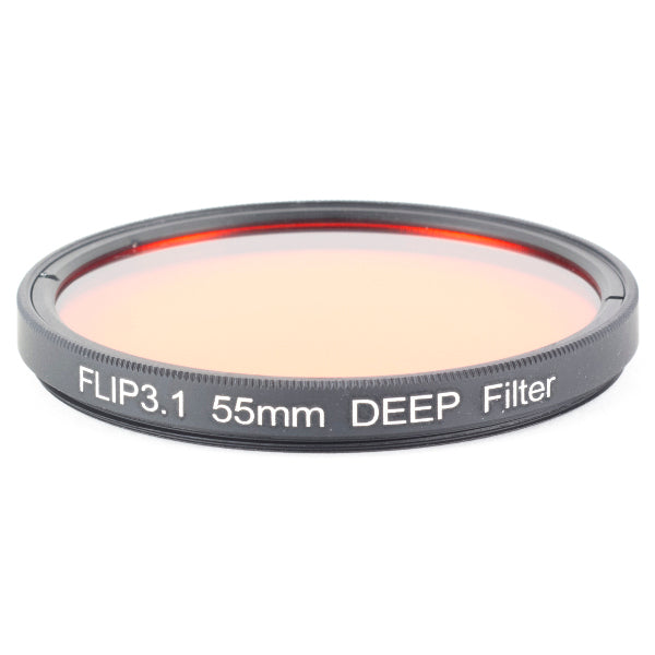 Flip Filters 55mm DEEP Underwater Color Correction Filter for GoPro HERO 7, 6, 5, 4, 3, 3+
