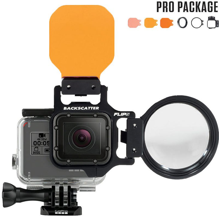 Flip Flip5 Pro Package with Three Filter Kit and MacroMate Mini +15