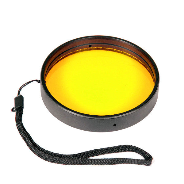 Ikelite Removable External Yellow Barrier Filter 3.9 Inch Diameter