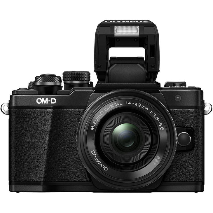 Olympus OM-D E-M10 Mark II Mirrorless Micro Four Thirds Digital Camera with 14-42mm EZ Lens (Black)