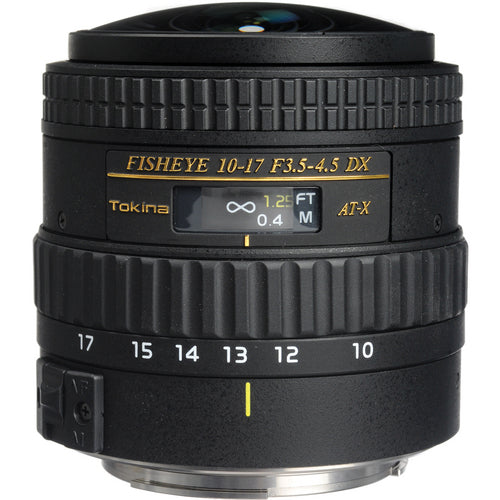 Tokina AT-X 10-17mm f/3.5-4.5 FX Fisheye Lens for Canon - No Hood