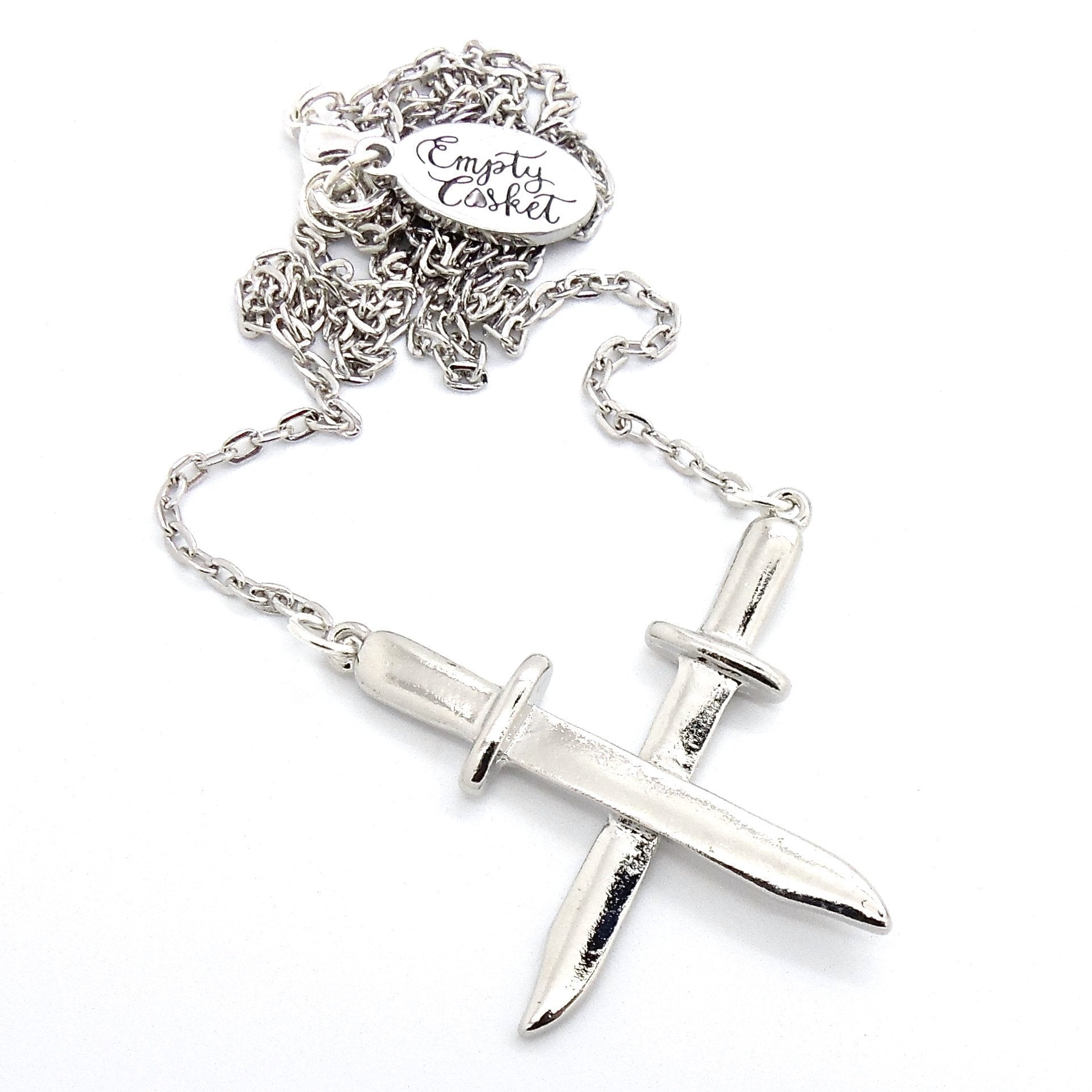 Crossed Daggers Necklace