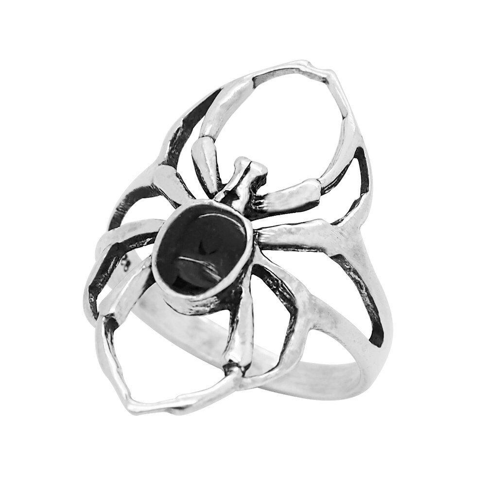 Sterling Silver Black Widow Ring
