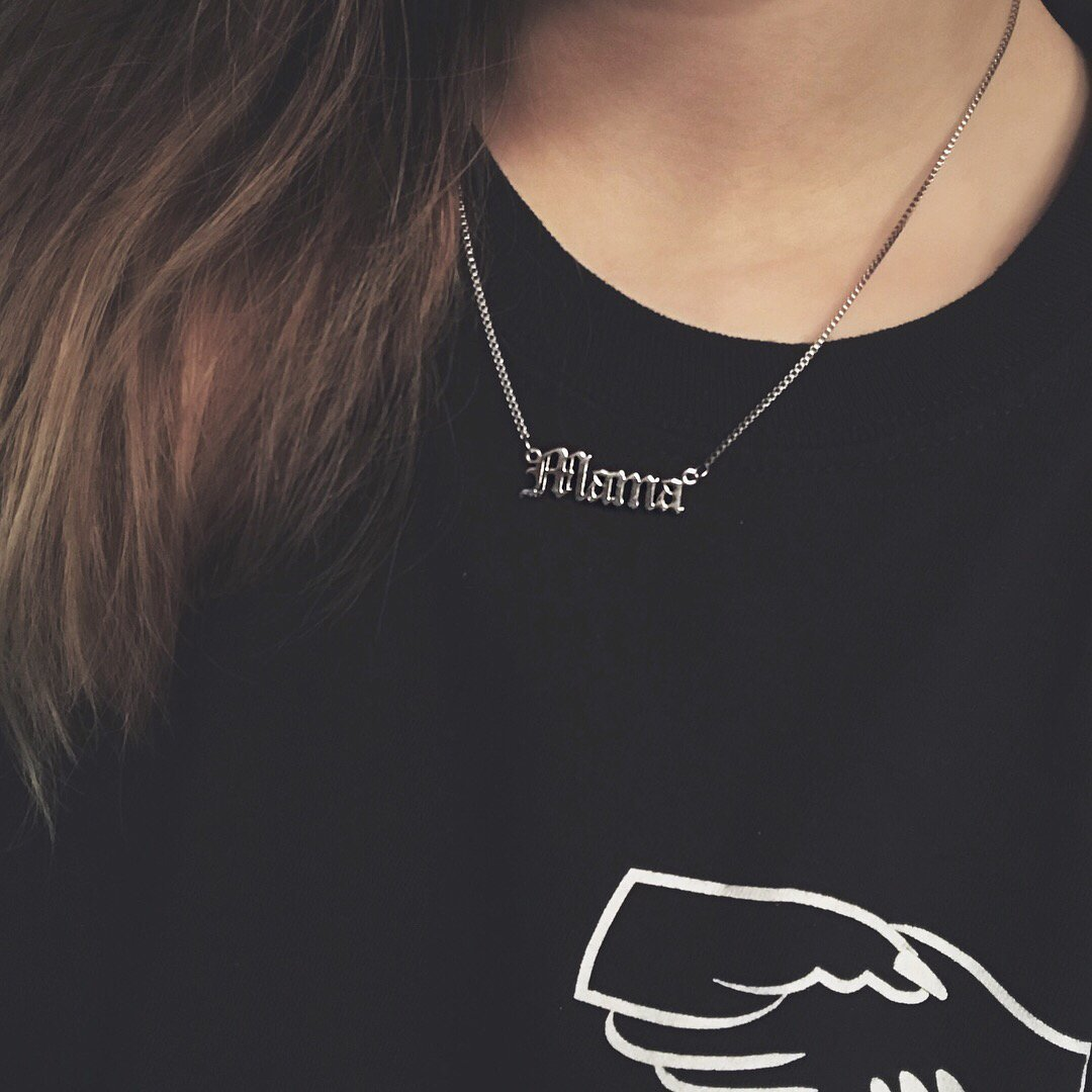'Mama' Script Necklace