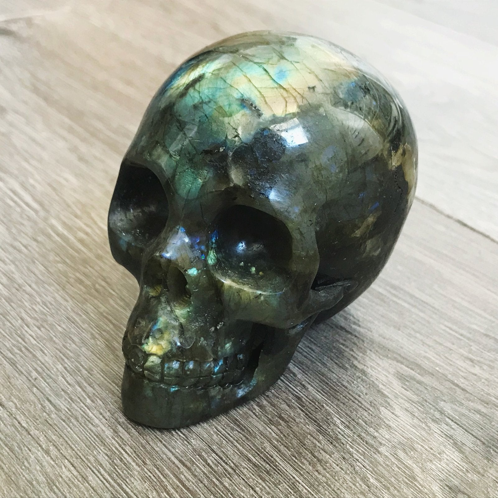 Labradorite Carved Crystal Skull