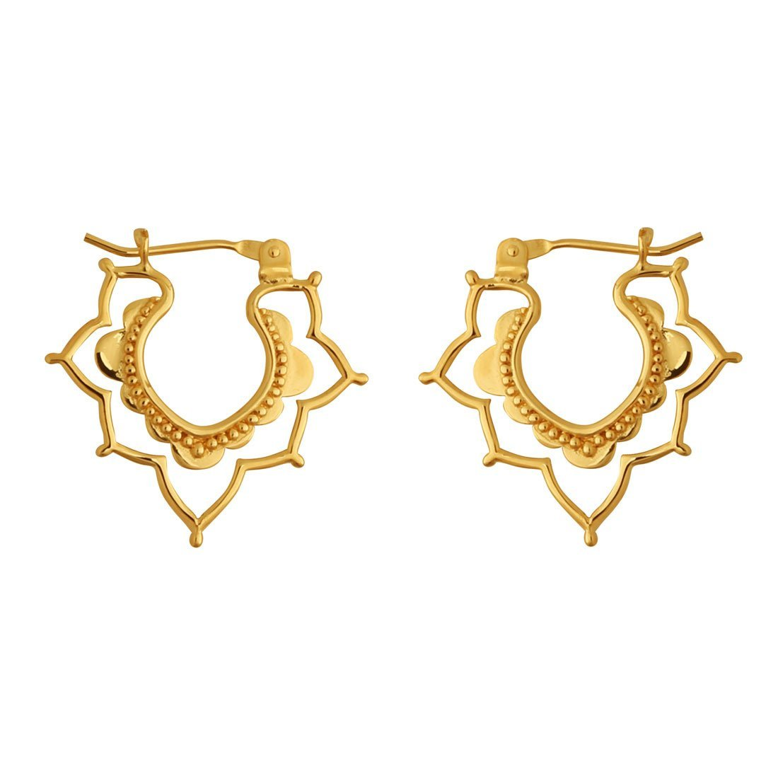 Gold Templum Exotica Sleeper Earrings
