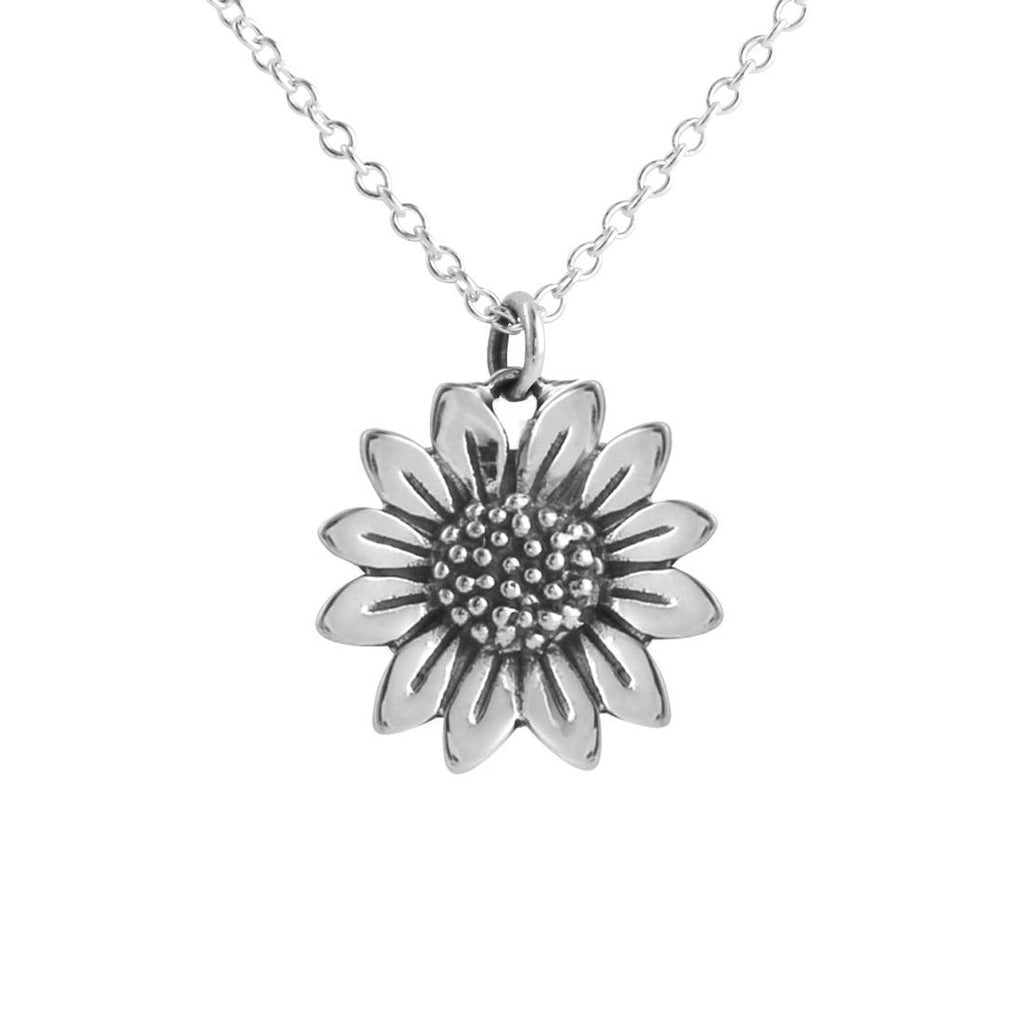 Sterling Silver Blossoming Sunflower Necklace