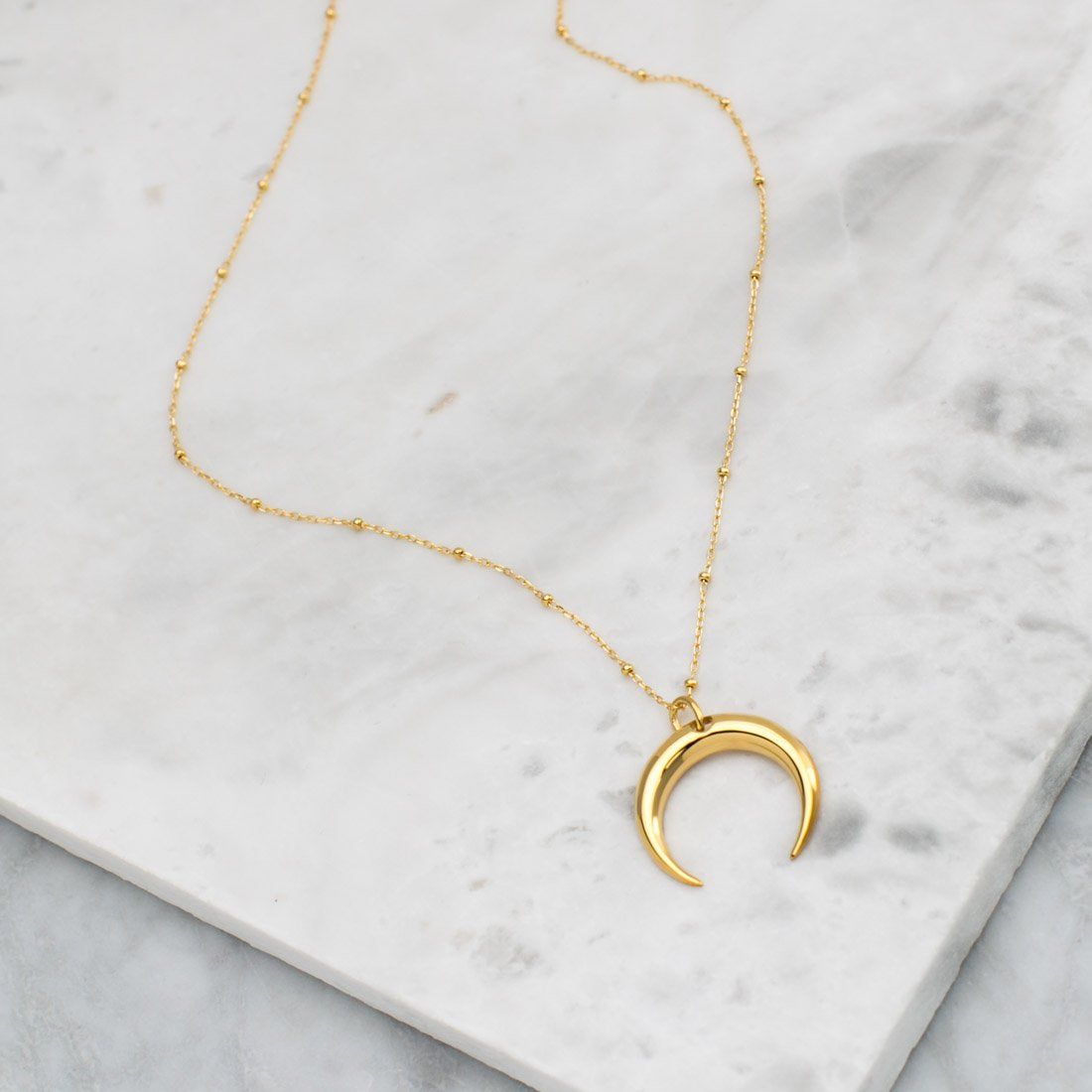 Gold Moon Illusion Necklace