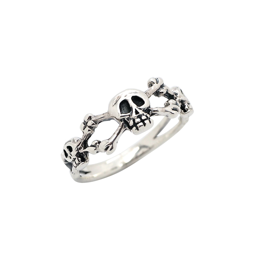Sterling Silver Skull & Crossbones Ring