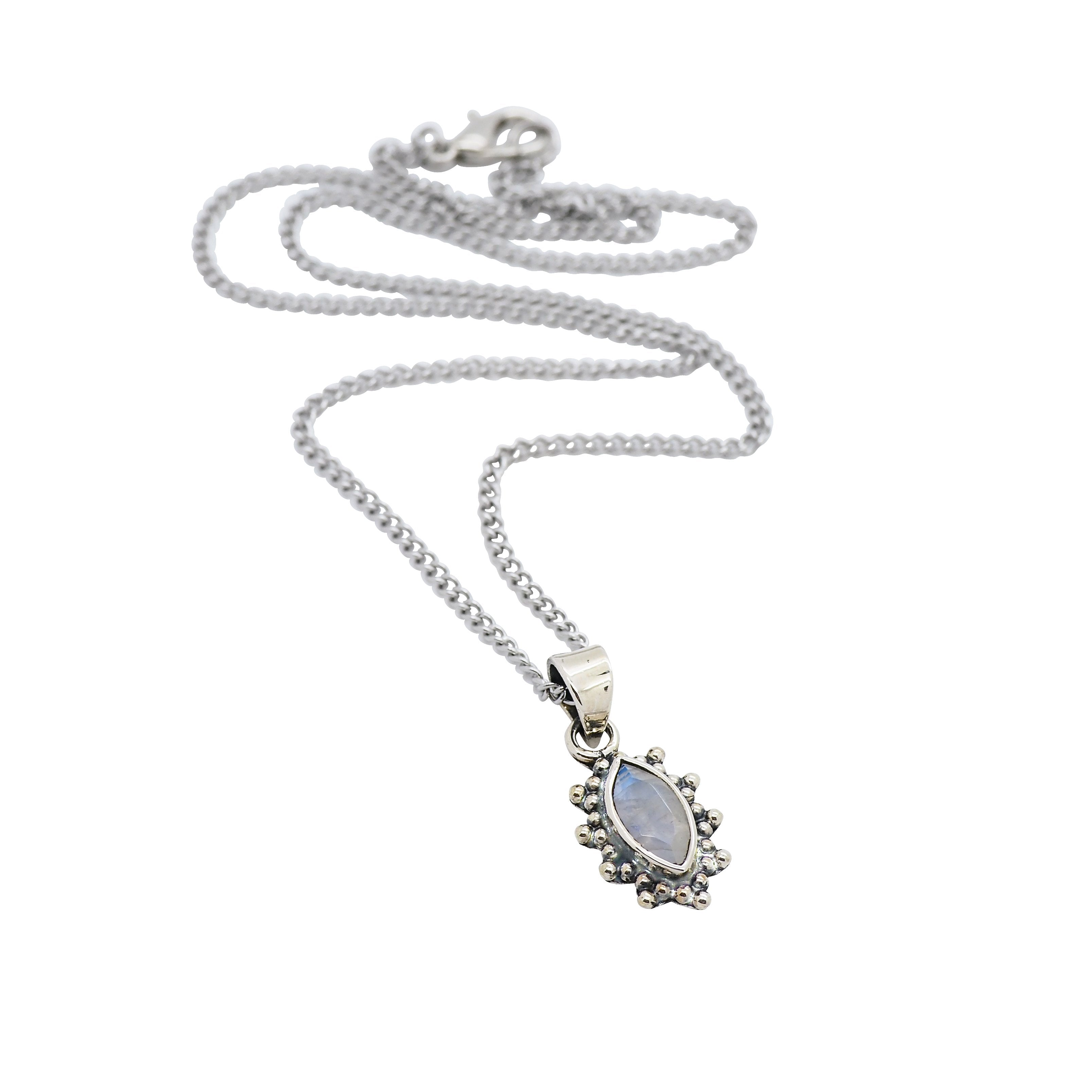 Rainbow Moonstone Selene Necklace