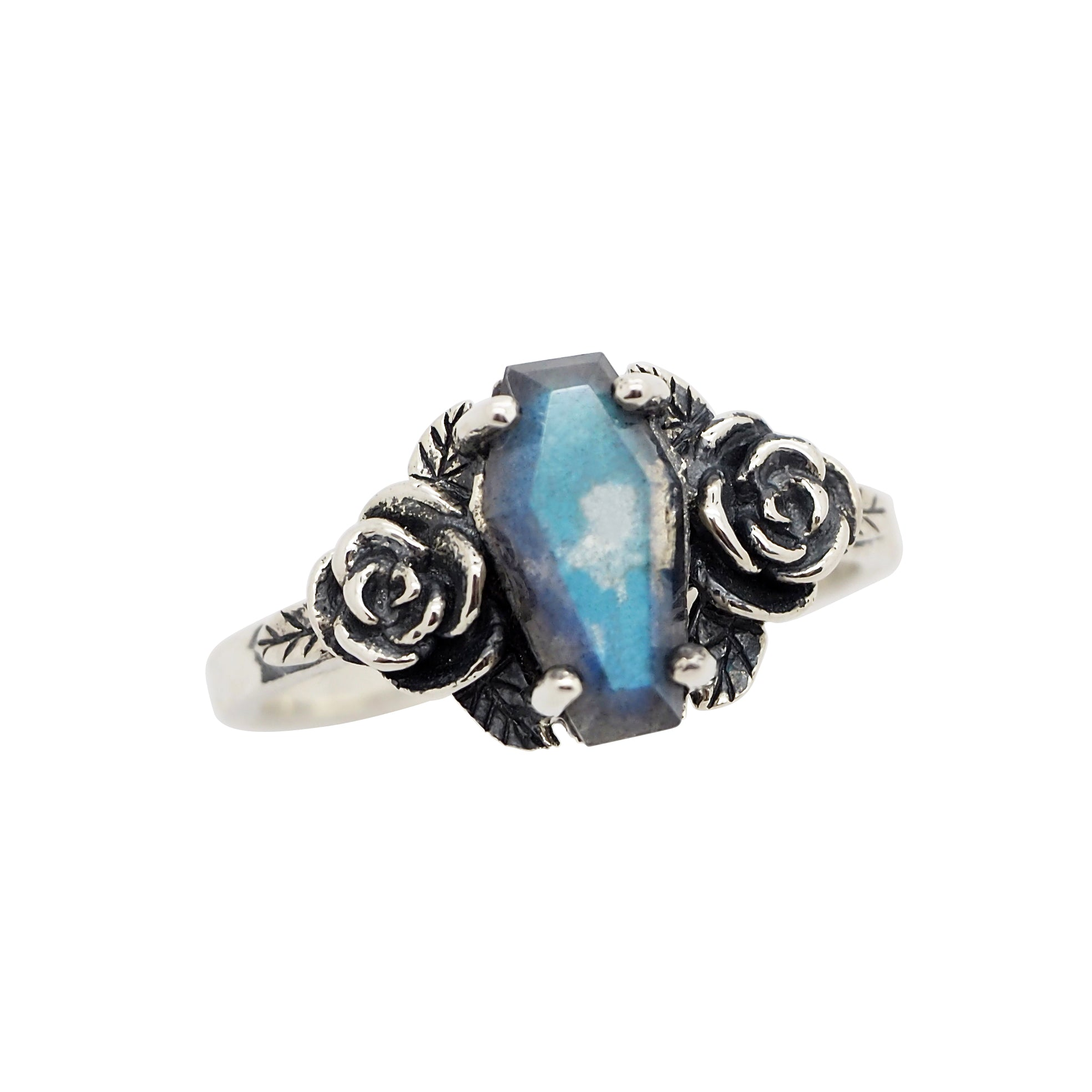 Labradorite 'Buried Beneath The Roses' Ring