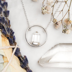 Sterling Silver Crystal Light Necklace
