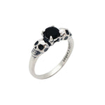Sterling Silver & Black Onyx Till Death Ring Petite