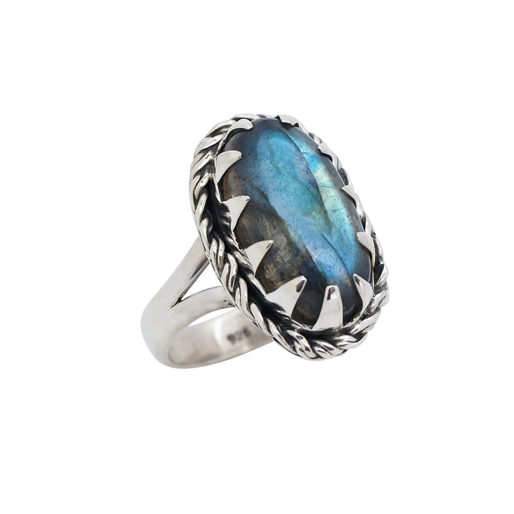 Sterling Silver & Labradorite Winter Solstice Ring