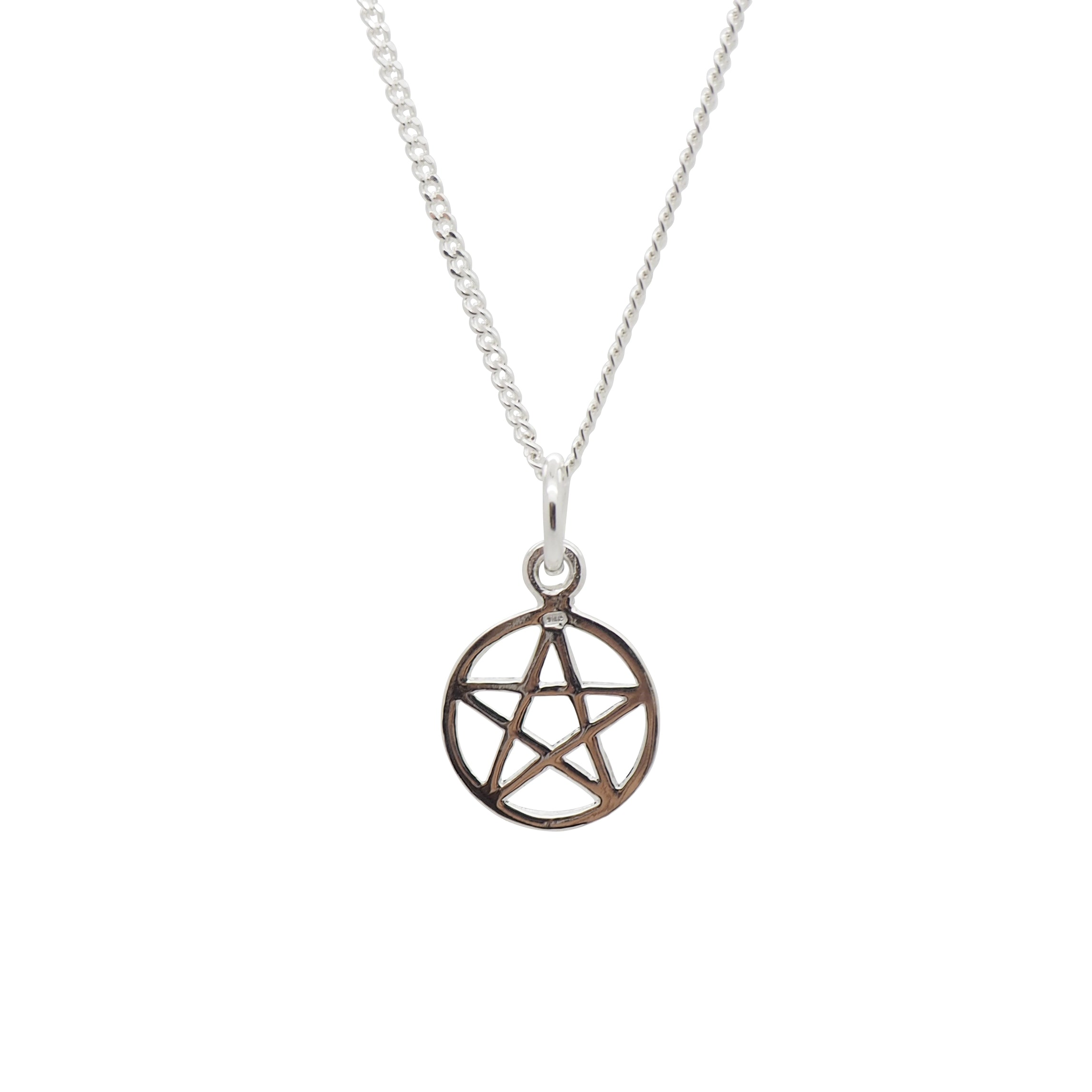 Sterling Silver Dainty Pentacle Necklace