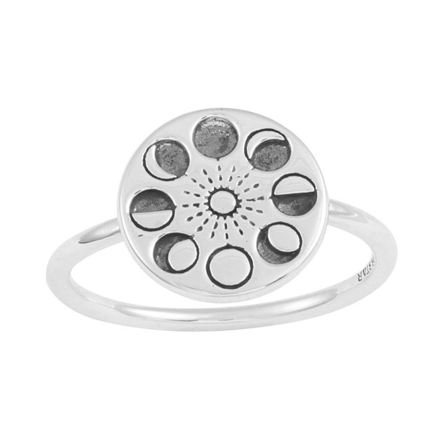 Sterling Silver Moons Phase Ring