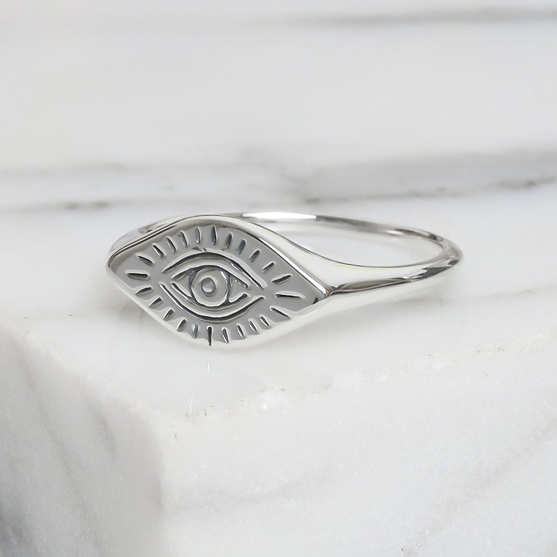 Sterling Silver All Seeing Eye Ring