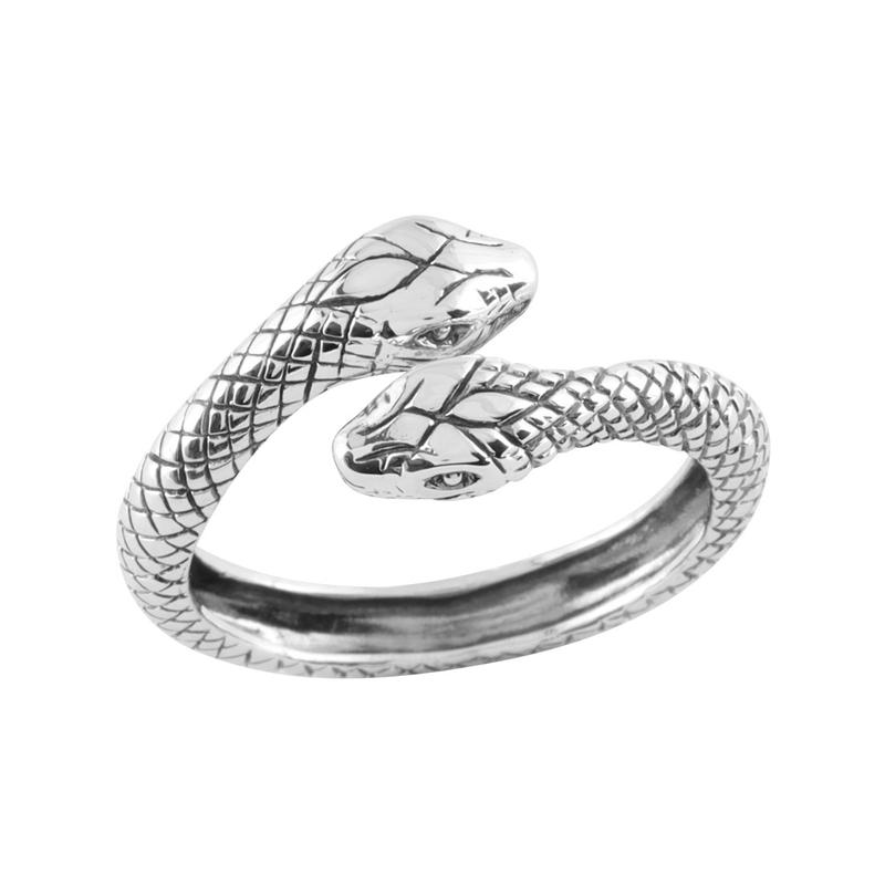 Sterling Silver Rebirth Snake Ring