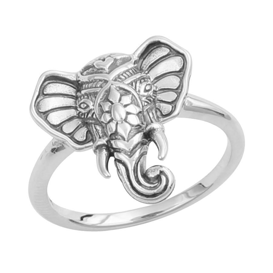 Sterling Silver Elephant Head Ring