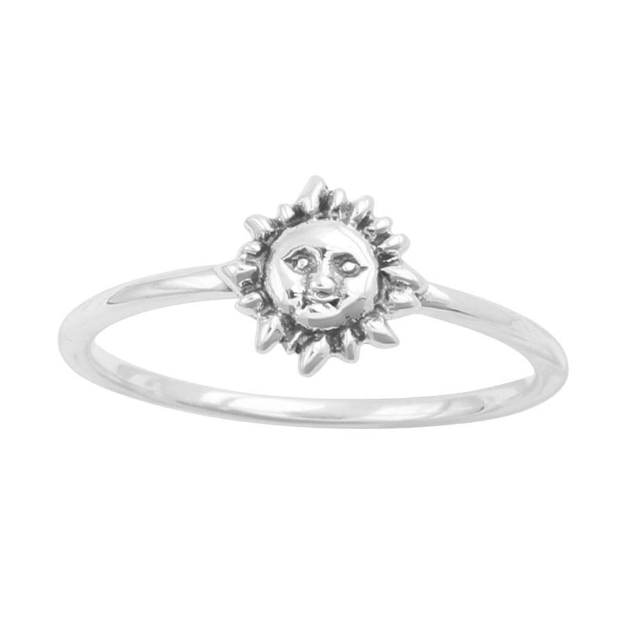 Sterling Silver Shining Sun Ring