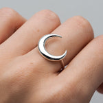 Sterling Silver Awaken Crescent Ring