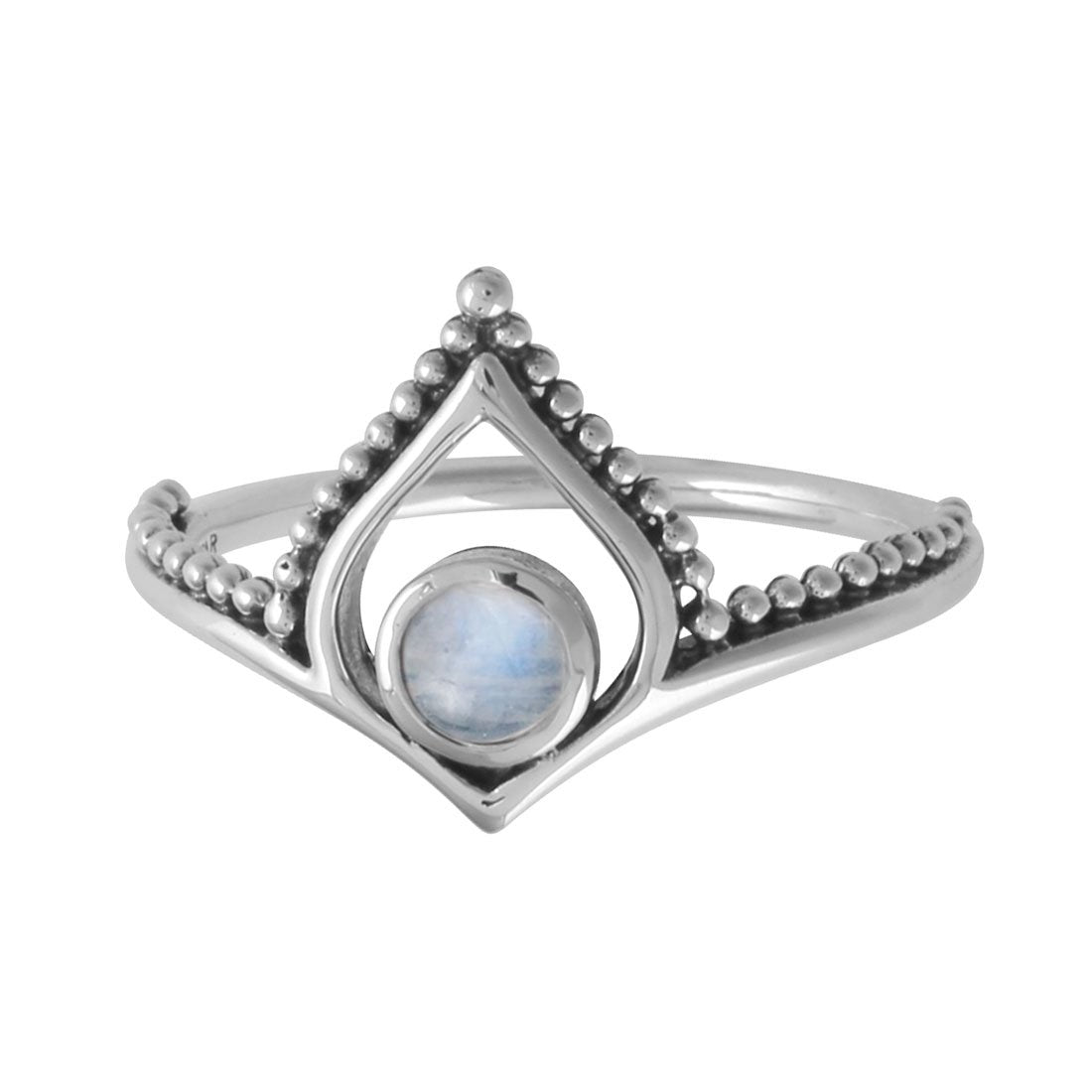 Sterling Silver Tanta Rainbow Moonstone Ring