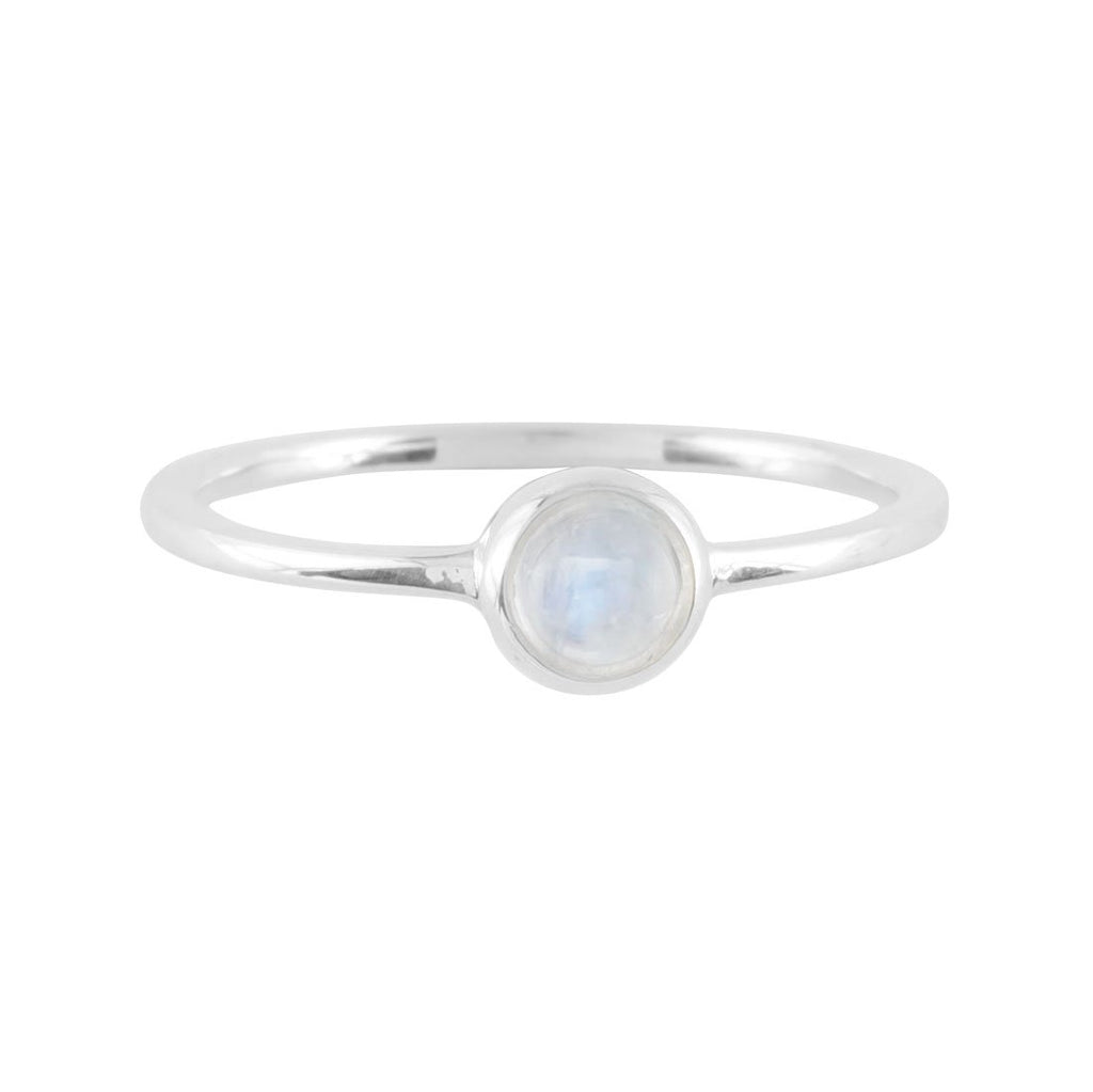 Sterling Silver Elixir Rainbow Moonstone Ring