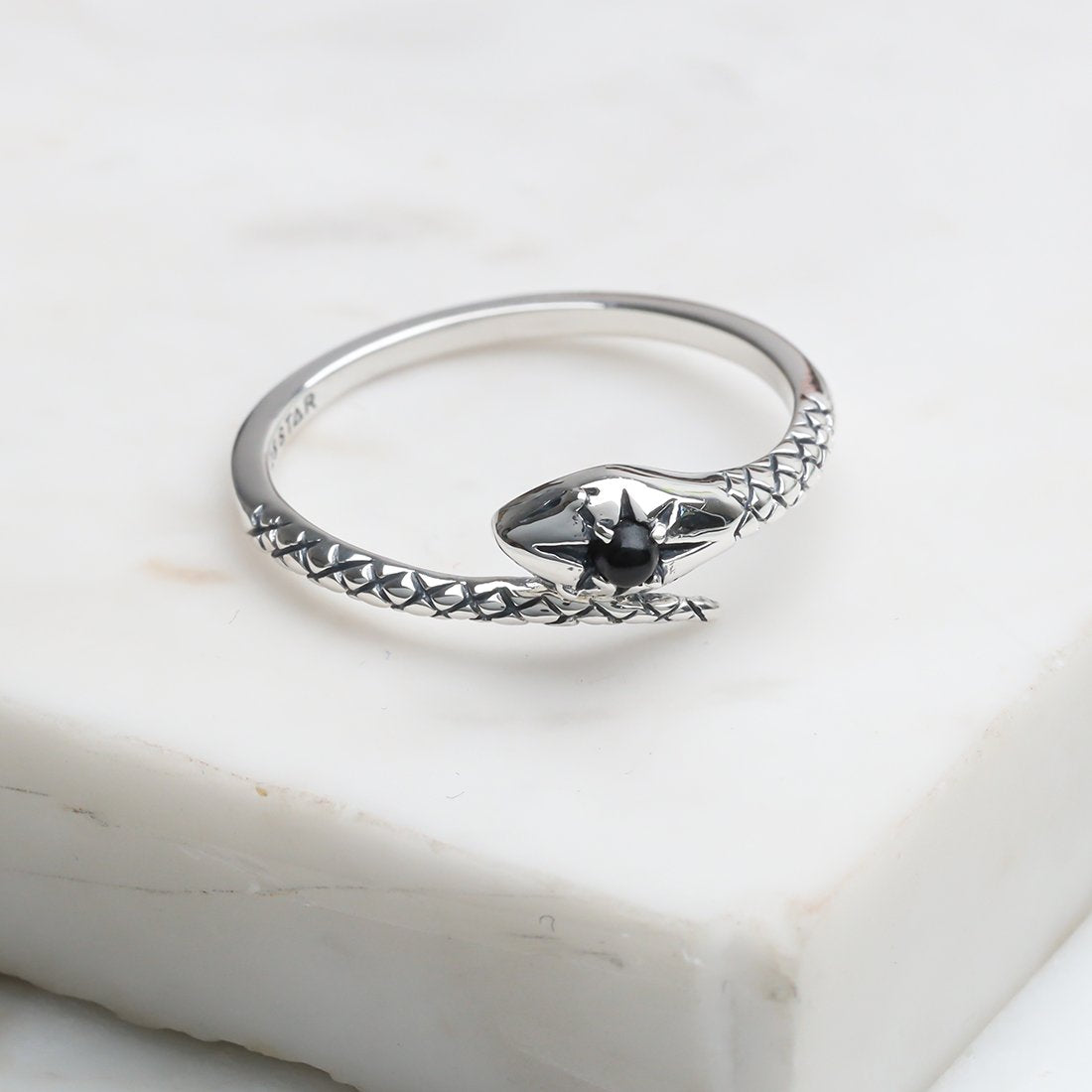 Sterling Silver Divine Serpent Ring