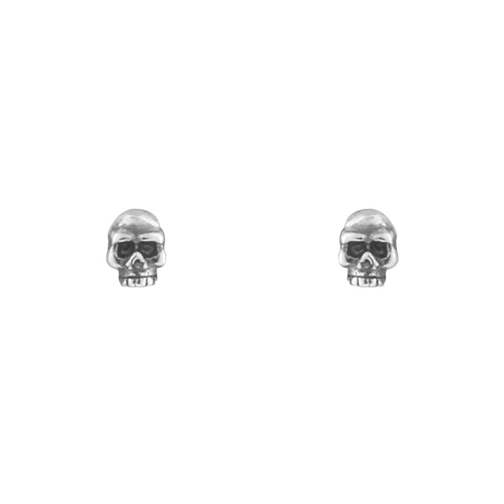Sterling Silver Tiny Skull Studs