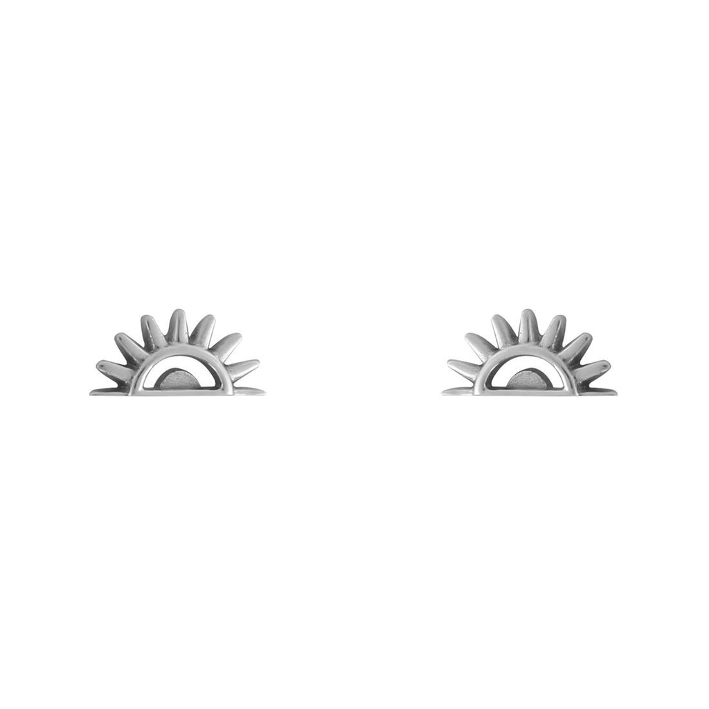Sterling Silver Fading Sun Studs