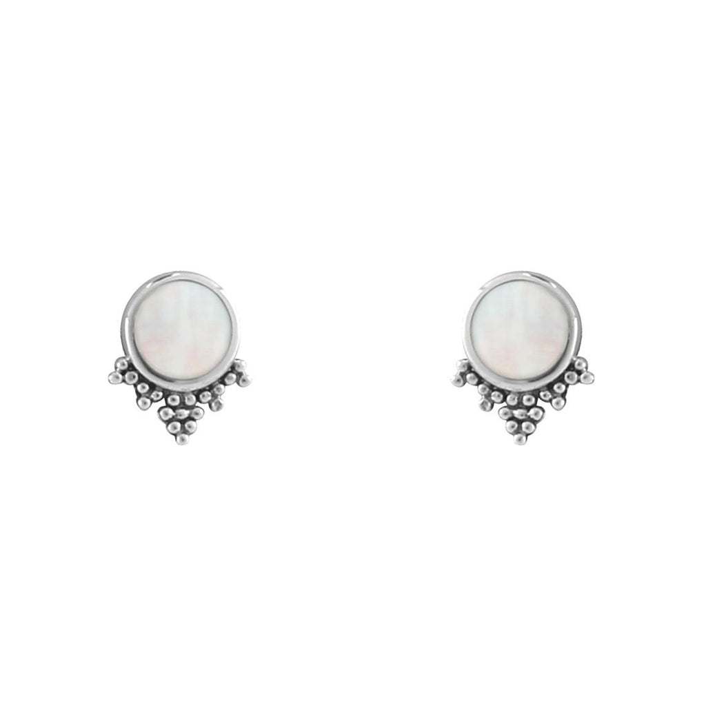 Sterling Silver Mystic Pearl Studs