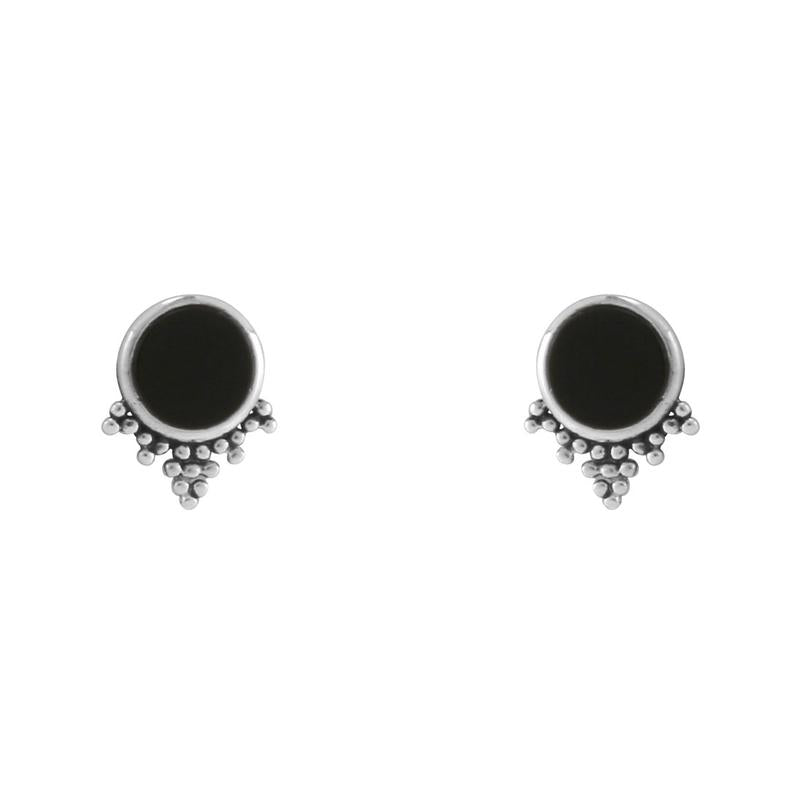 Sterling Silver Mystic Onyx Studs