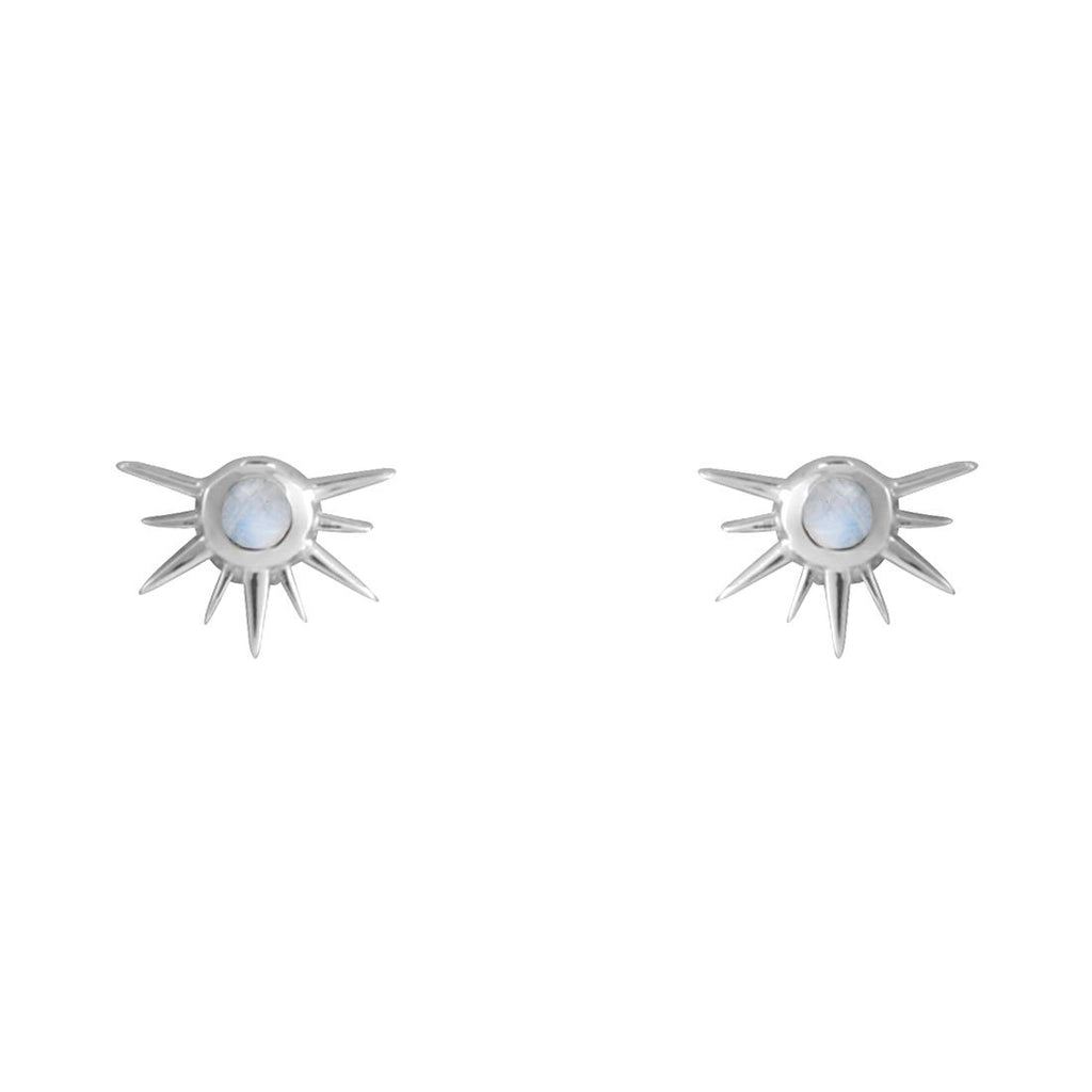 Sterling Silver Sun Spire Studs