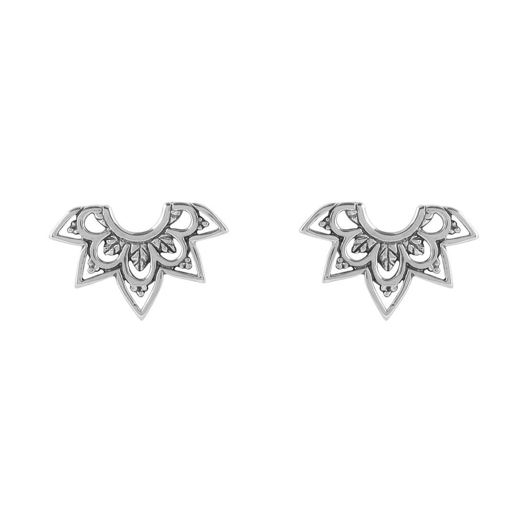 Sterling Silver Mehndi Archways Studs