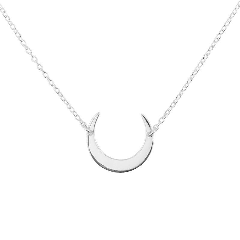 Sterling Silver Moon Eclipse Necklace