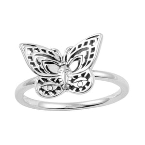 Sterling Silver Spirit Moth Ring