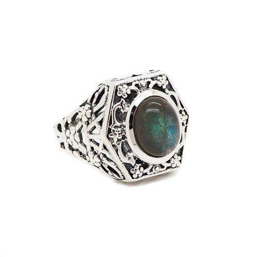 Sterling Silver & Labradorite Witches' Brew Ring