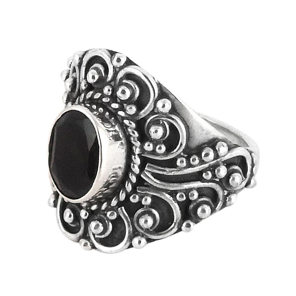 Sterling Silver & Black Onyx Lydia Ring