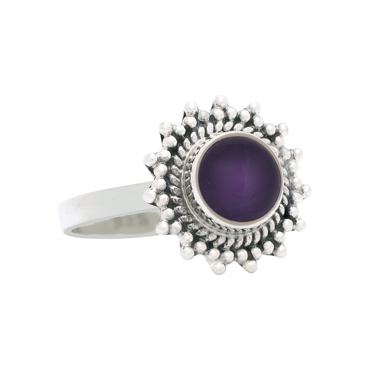 Sterling Silver & Amethyst Solstice Ring.