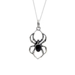 Sterling Silver Black Widow Necklace