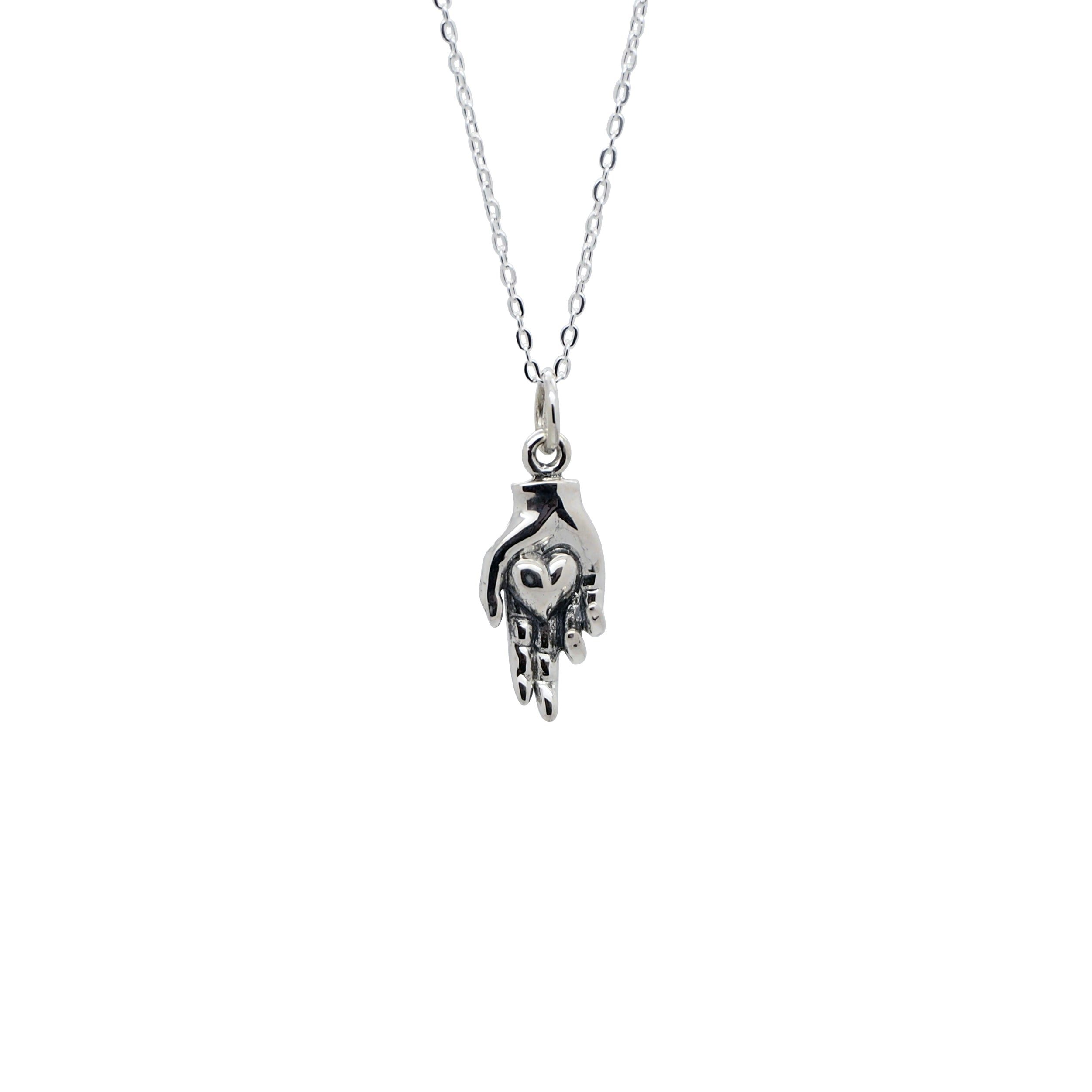 Sterling Silver Take My Heart Necklace