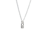 Sterling Silver Lock Me Up Necklace