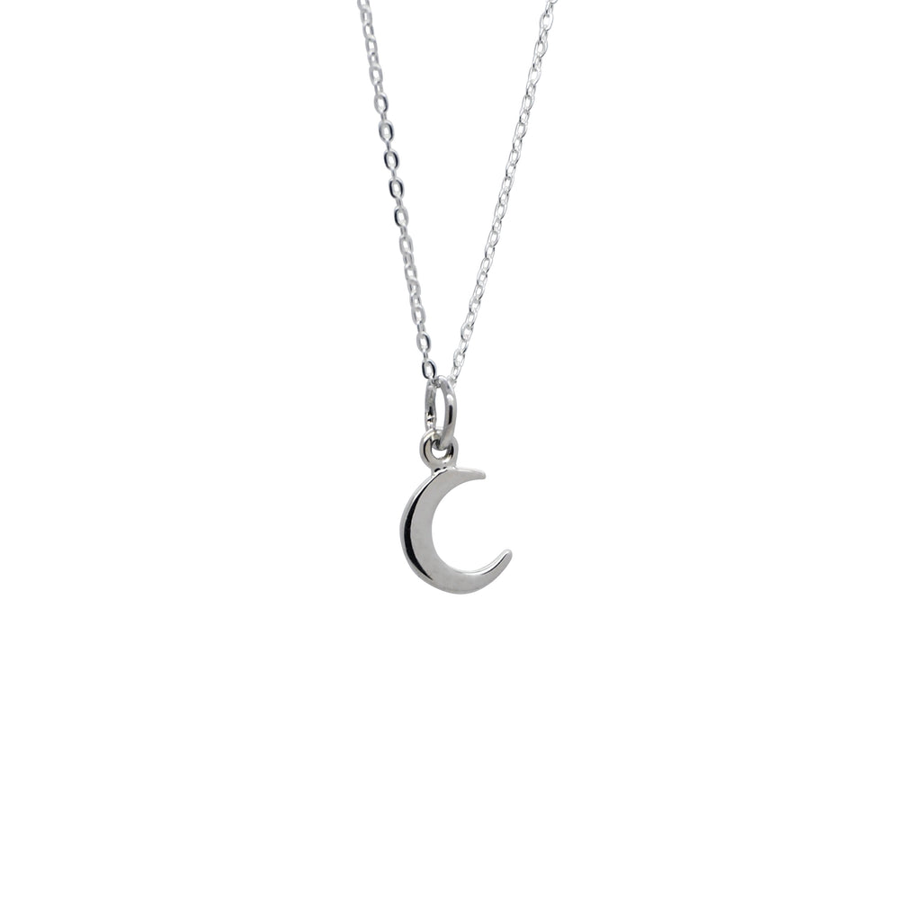 Sterling Silver To the Moon Necklace
