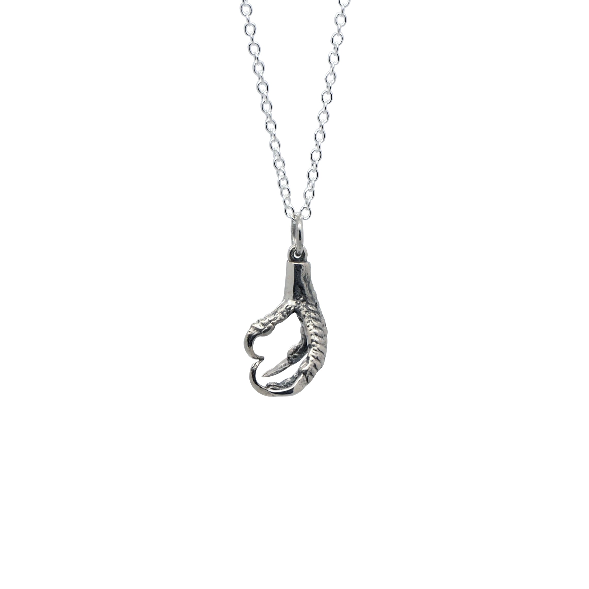 Sterling Silver Nevermore Claw Necklace