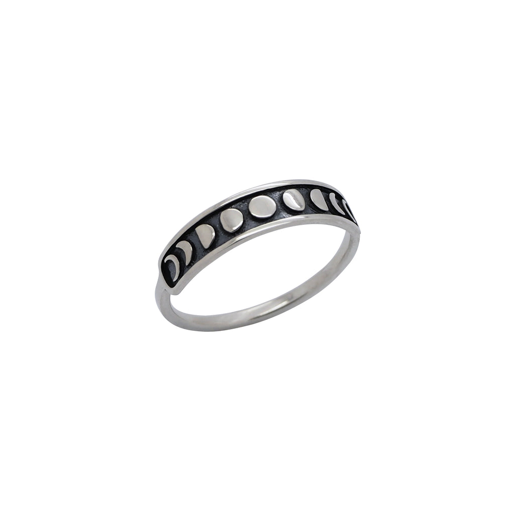 Sterling Silver Moon Phases Ring