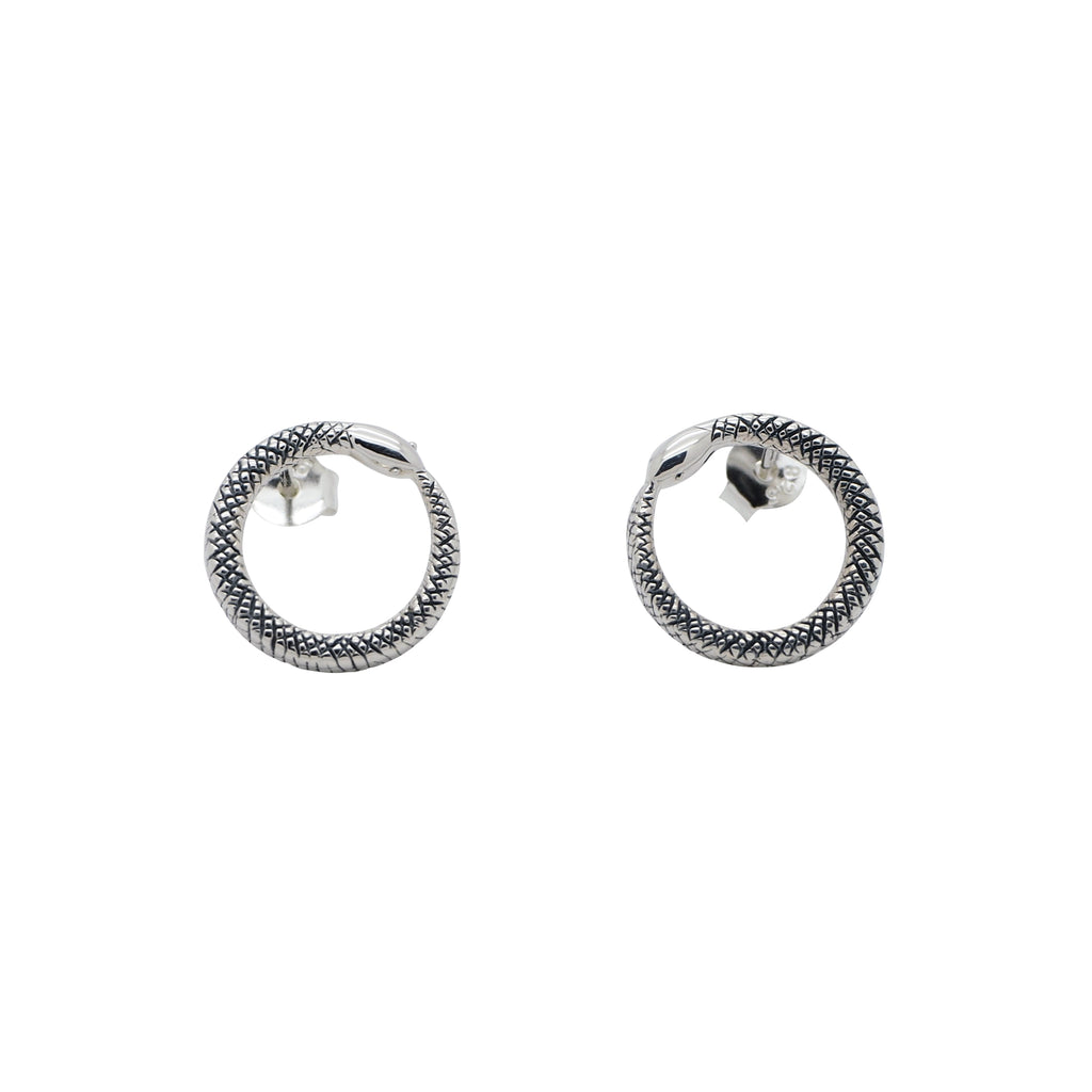 Sterling Silver Ouroboros Studs