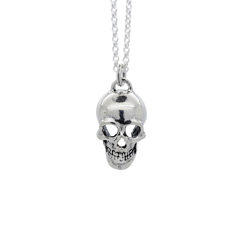 Sterling Silver Skully Necklace
